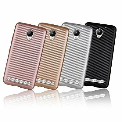 Synthetic fiber Carbon Fiber Plastic Back Cover Case For Lenovo Vibe C2 K10A40
