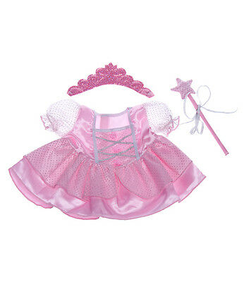 "Pink Fairy Princess outfit teddy bear clothes fits 15"" Build a Bear"