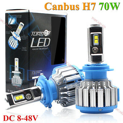PHILIPS 70W 7200LM H7 LED Lamp Headlight Kit Car Beam Bulbs 6000k White Canbus
