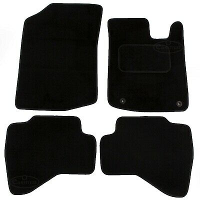 Toyota Aygo 2005-2014 Tailored Carpet Car Mats Black 4pc Floor set 2 clips