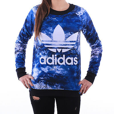 adidas Originals Womens Night Crewneck Jumper Sweater Pullover Top - (B Grade)