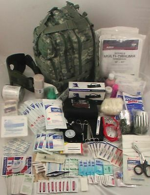 Elite First Aid Tactical Trauma BackPack Kit fully stocked 230Items