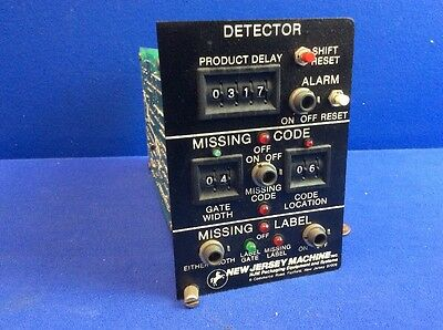 New Jersey Sa 320-565 Missing Label/Code Detector Module