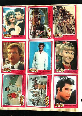 1978 TOPPS GREASE Movie 1st Series Complete 66 Card Set Excellent+++Some NM