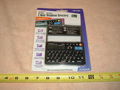 Aurora 30-entry E-mail & 64-entry telephone directory