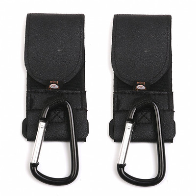 2PCS Buggy Clips Baby Pram Pushchair Stroller Hooks Black