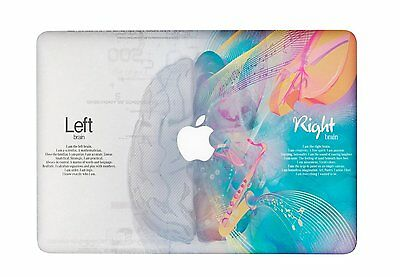 Left Right Brain Think Cover Sticker Laptop MAC Decal for Macbook Air Pro Retina