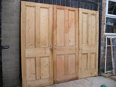 Reclaimed Victorian beaded four panel interior doors. Unrestored. 5 available