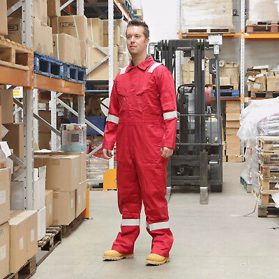 Walls FR Flame Resistant Work Wear Overalls Coverall Boiler Suit Red RRP £100