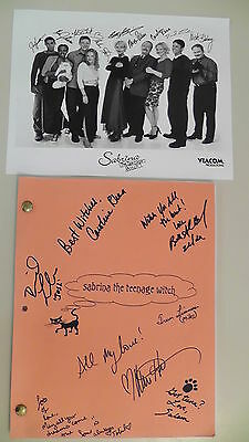 "Sabrina The Teenage Witch Show Script ""The Halloween Scene"" Cast Autographed"