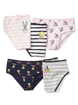 New Gap Kids 5 Pack Panties Bikinis Underwear 2 3 6 7 8 12 16 NWT Looney Tunes