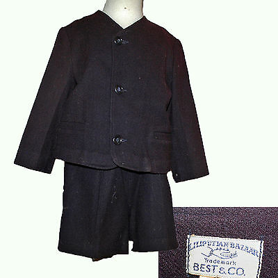 QUALITY BEST & CO BOY'S SUIT c1948 EASTER ~ LILLIPUTIAN BAZAAR SZ 6 NAVY WOOL