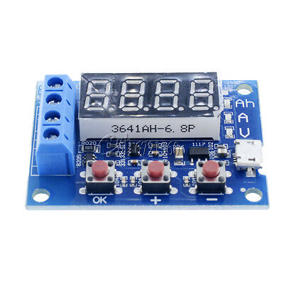 18650 Li-ion Lithium Lead-acid Battery Capacity Meter Discharge Tester 1.2-12V
