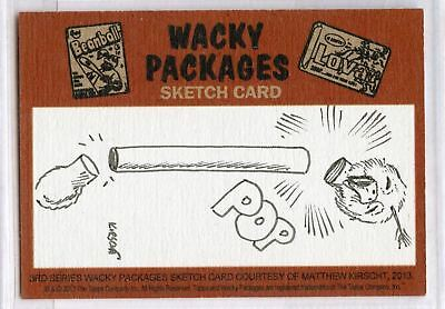 2013 Topps Wacky Packages3rd Series  Sketch Card by Matthew Kirscht  Puzzle Set
