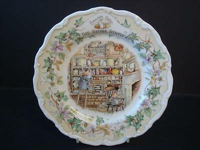"""Royal Doulton Brambly Hedge The Store Stump 8.25""""  Plate"""