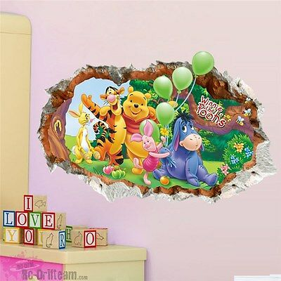 Vinilos Decorativos 3D Winnie the Pooh. Wall Stickers Vinyl Decal