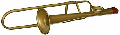 Handcrafted Gold Metal Trombone Kazoo Musical Instrument - Anyone Can Play!