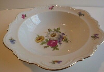 "MITTEREICH Bavaria (Germany) Meissen Floral China 10"" Serving Bowl"