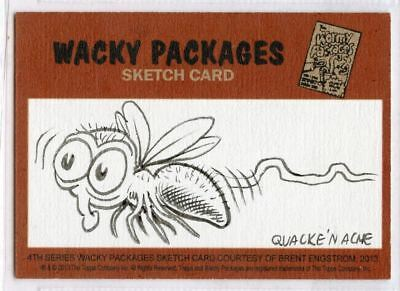 2013 Topps Wacky Packages 4th Series Sketch Card Brent Engstrom Puzzle Set 8/150