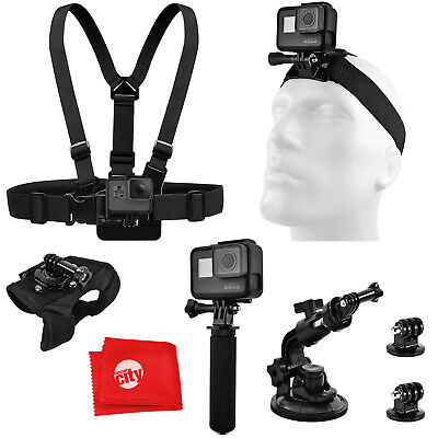 Accessory Bundle for GoPro HERO5 Black / Session 4K Action Camera w/ Chest and H