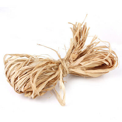 5 Roll Natural Raffia Cord Ribbon Bundle Florist Crafts Gifts Wrap Decor