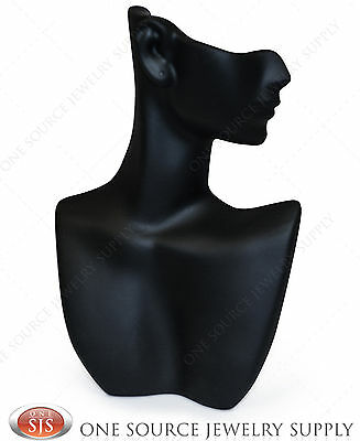 "9""tall Black Pendant Display Stand Bust Mannequin Jewelry Display Partial Face"