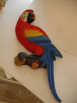 Red Parrot or McCaw wall hanging large