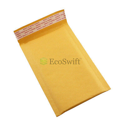 "1-15000 #000 4x8 ""EcoSwift"" Kraft Bubble Padded Envelopes 5 x 8 ~ X-Wide Mailers"