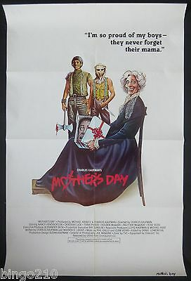 Mothers Day Original 1980 1 Sheet Poster Troma Charles Kaufman Rare Horror