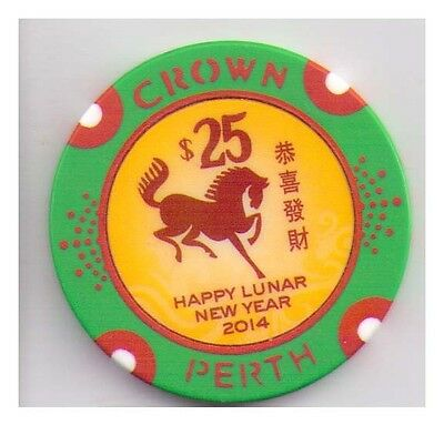 $25 Perth Crown Casino - 2014 Lunar Year of the Horse - Hard to Obtain