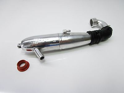 Hobao .21 Off Road style Complete Exhaust Pipe + Gasket    OZRC MODELS