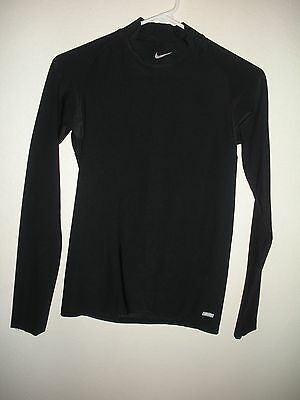 Nike Pro Dri Fit Fitted Long Sleeve Mock Turtle Neck Shirt Youth Large