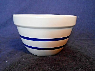 Vintage Roseville RRP co. Blue Stripe 9 inch Batter Bowl