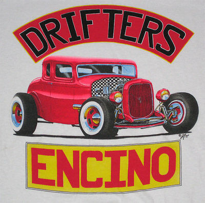 Alton Kelley _RARE_ Original Shirt Encino Drifters Hot Rod VTG XXL Grateful Dead