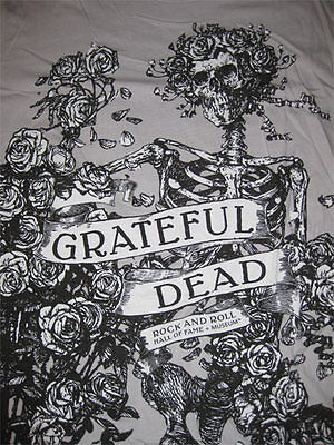 Grateful Dead XXL Hall Of Fame / Museum ALL OVER Skull Roses Shirt Jerry Garcia