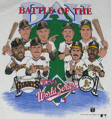 Image result for 1989 world series caricature shirt