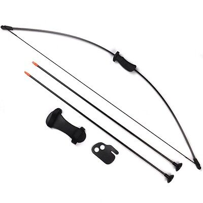 20IBS Bow Set Kids Archery Hunting Practice Bows With Protectors & Safe Arrow