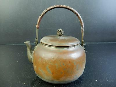 F2906: Japanese SMALL COPPER BOTTLE Teapot Dobin Kyusu Sencha