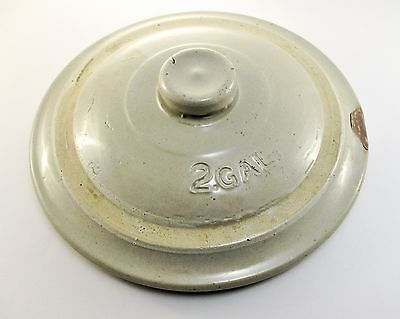 Antique 2 Gallon Lid for Stoneware Crock  LID ONLY