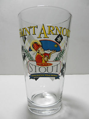 Saint Arnold Brewing Company Winter Stout Pint Beer Glass Houston Texas Brewery