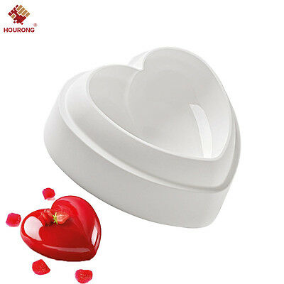 Silicone Heart-Shaped Cake Decorating Mold For Chiffon Mousse Dessert Baking Pan