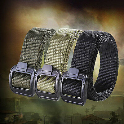 Men's Fashion Outdoor Sports Military Tactical Waistband Canvas Web Belt