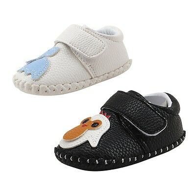 Infant Baby Boy Girl Slip-on PU Leather Moccasin Shoes Soft Sole Cartoon Slipper
