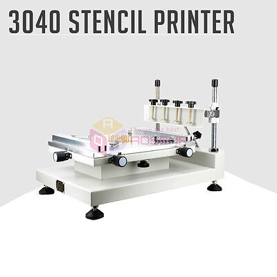 High Accuracy PCB SMT Manual Stencil Printer 3040 Solder Paste Printing Machine