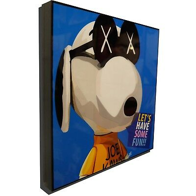 Snoopy KAWS Art Poster Print Photo Painting Peanuts Collectible BearBrick Canvas