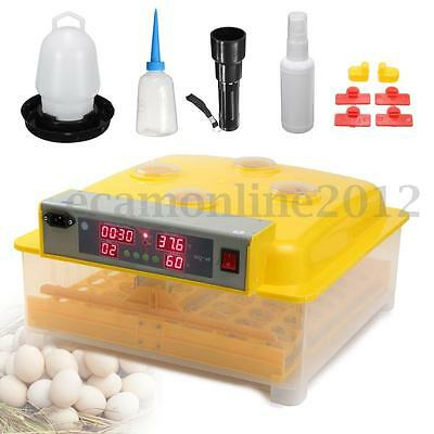 48 Eggs Automatic Incubator Temperature Control Hatch Chicken Duck Bird Poultry