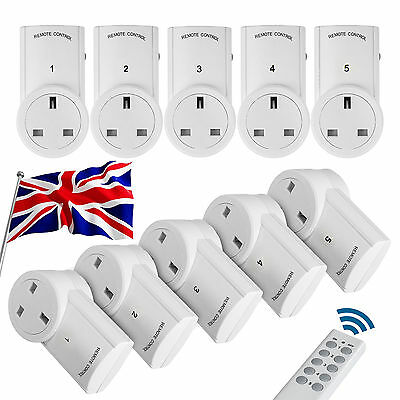 Remote Control Socket Wireless Switch Home Mains Plug AC Power Outlet 1|2|3|4|5