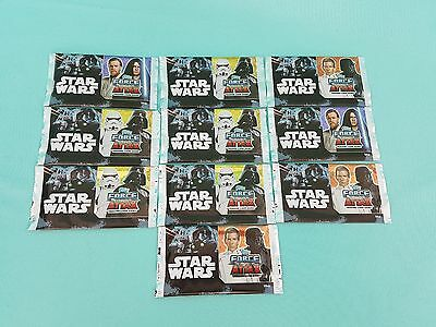 Topps Star Wars Force Attax Universe 10 x Booster / 50 Karten  Neu & OVP 2017