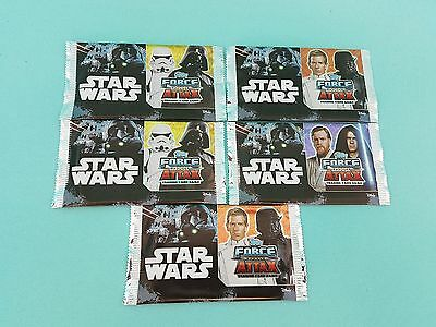 Topps Star Wars Force Attax Universe 5 x Booster / 25 Karten  Neu & OVP 2017