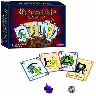 Playroom Entertainment Unspeakable Words Card Game